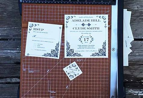Wedding Invitations Using Doilies by Diy Wedding Invitations Rustic Vintage Iron Template