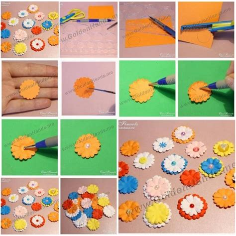 Easy Steps To Make A Paper Flower - how to make easy paper flowers step by step diy tutorial