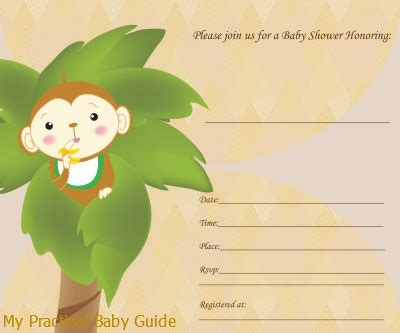 monkey themed baby shower invitations printable monkey baby shower theme ideas my practical baby shower guide
