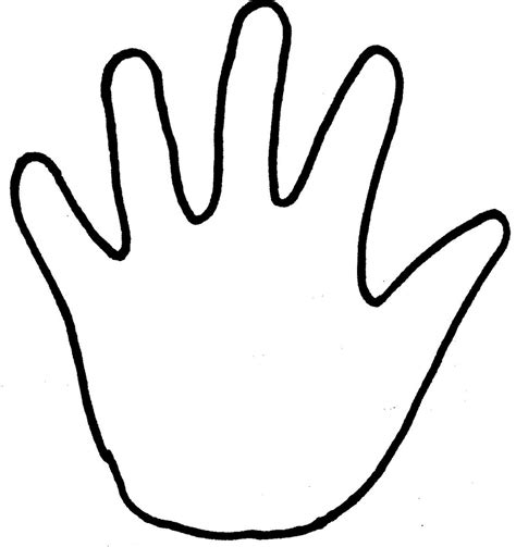 handprint outline clipartion com