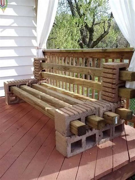 how to build a patio bench how to make a bench from cinder blocks 10 amazing ideas