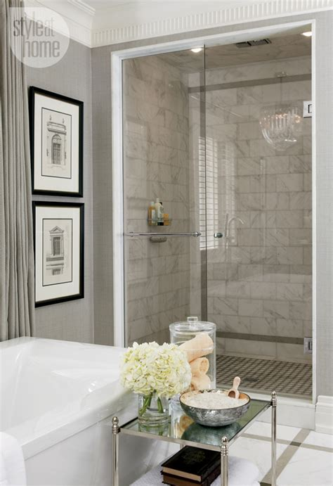white and gray bathroom marble showers
