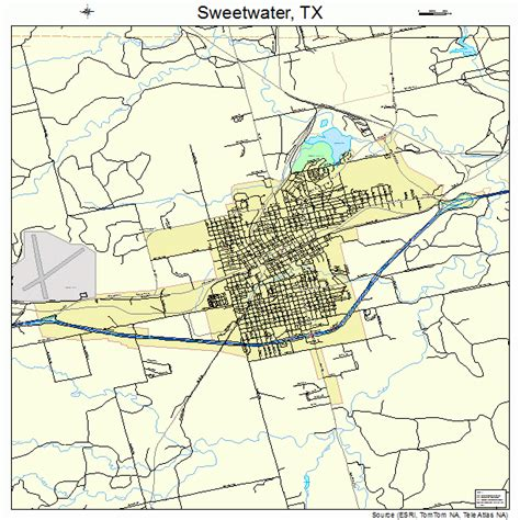 sweetwater texas map sweetwater texas map 4871540
