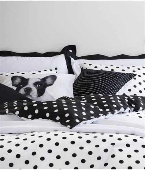 Bedcover Set 120x200x20cm Jaxine Polkadot Black bedding shop for bedding on wheretoget