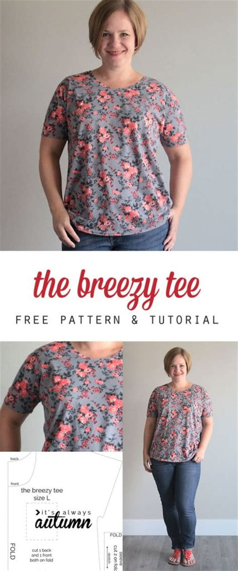 t shirt pattern for ladies the breezy tee free womens sewing pattern allcrafts free