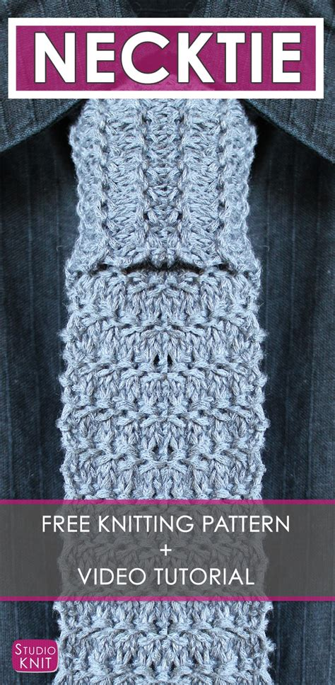 knitting pattern video tutorial how to knit a granite necktie pattern with video tutorial