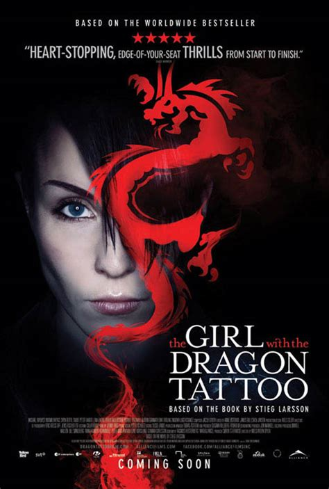 cast of the girl with the dragon tattoo the with the 2010 poster