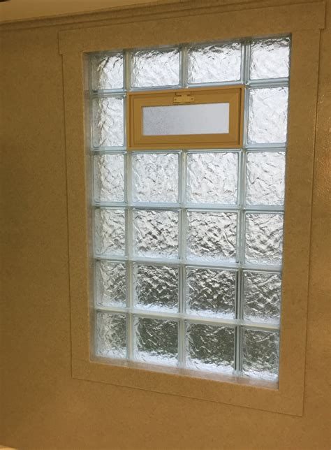 glass block window in shower how to trim a shower window for style and durability