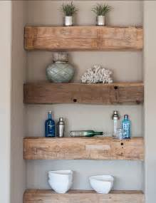 Wood Shelves Bathroom My Sweet Rustic Wood Shelving