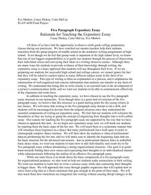 Expository Essay Exles For Middle School by 5 Paragraph Essay Exle On Quotes Quotesgram