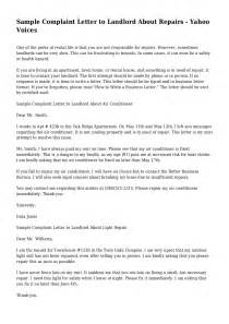 Complaint Letter Water Problem Sle Complaint Letter To Landlord About Roaches