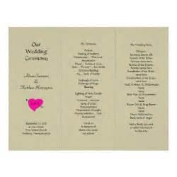 Tri Fold Wedding Program Template by Burlap And Tri Fold Wedding Program Template