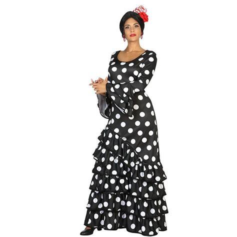 traje de flamenca negro de lunares blancos de luisa perez en we love traje flamenca de lunares tienda online de art 237 culos de