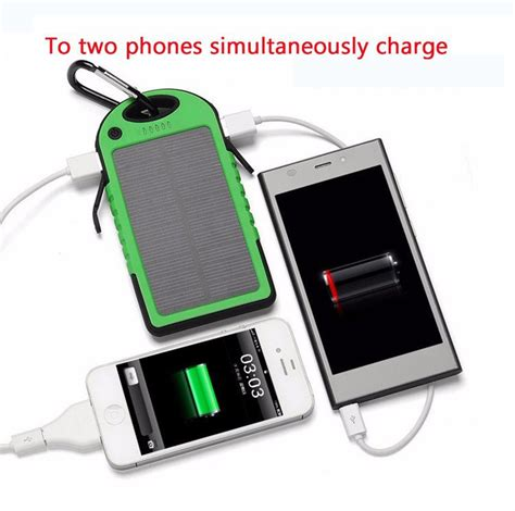 Powerbank Samsung 5000mah solar power bank 5000mah waterproof led lighting external