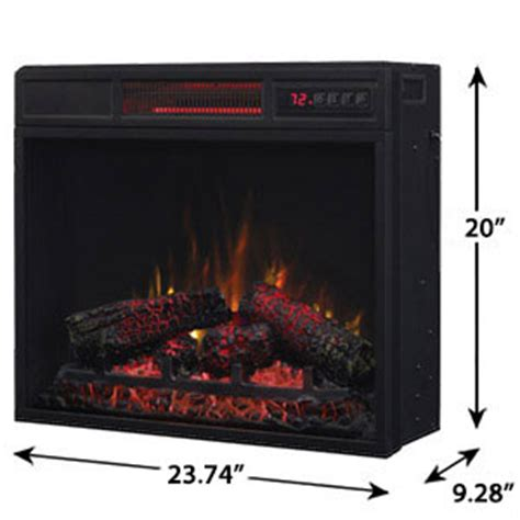 classicflame 23 in spectrafire infrared electric fireplace