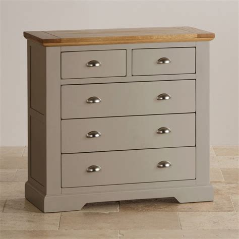 Light Grey Chest Of Drawers by Oak And Light Grey Painted 2 3 Chest Of Drawers