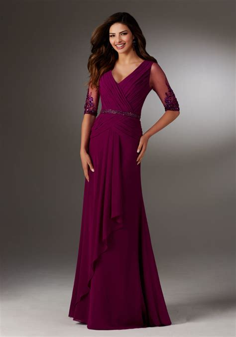 chiffon evening gown style  morilee