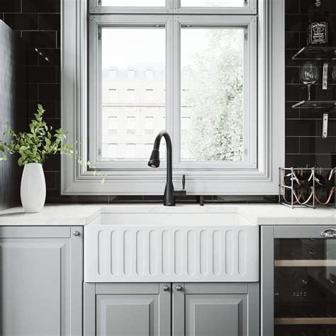 what is matte sink vigo all in one 30 in 0 farmhouse kitchen sink and