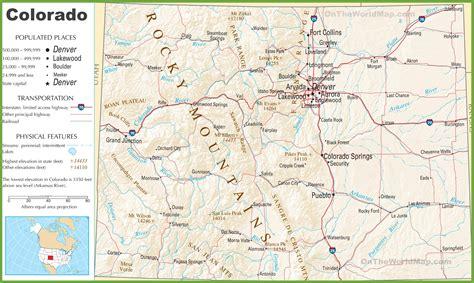 colorado county map with highways colorado highway map