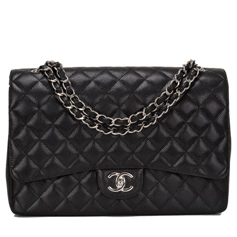 Chanel Maxy Besar 1 chanel maxi classic flap black quilted caviar bag world s best