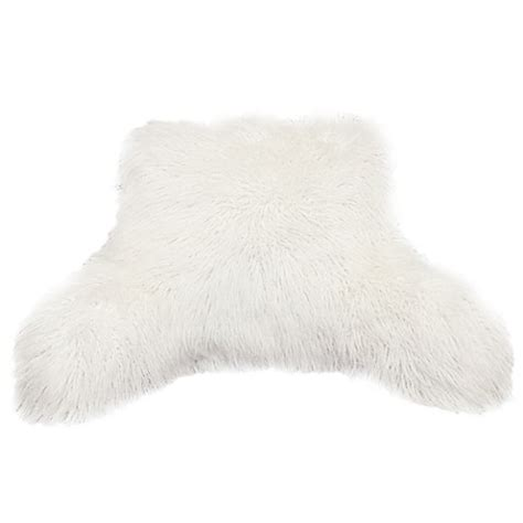 bed faux fur husband pillow kids backrest pillow with arms furry mongolian fur backrest bed bath beyond