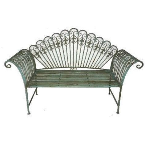 shabby chic garden bench garden furniture shabby chic metal bench vintage look bench antique blue chair ebay