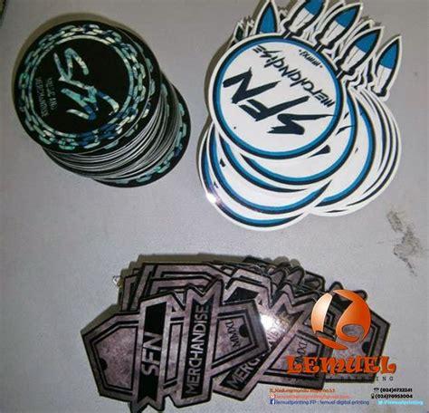 Stiker Bulat Dan Kotak Aneka Warna sticker die cut berkualitas dan murah di semarang by