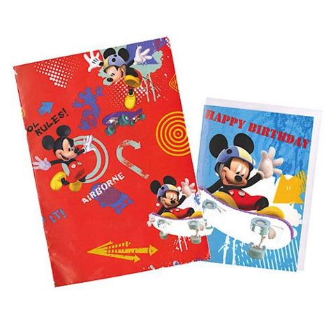 mickey mouse gift wrap buy mickey mouse wrapping paper birthday card and gift