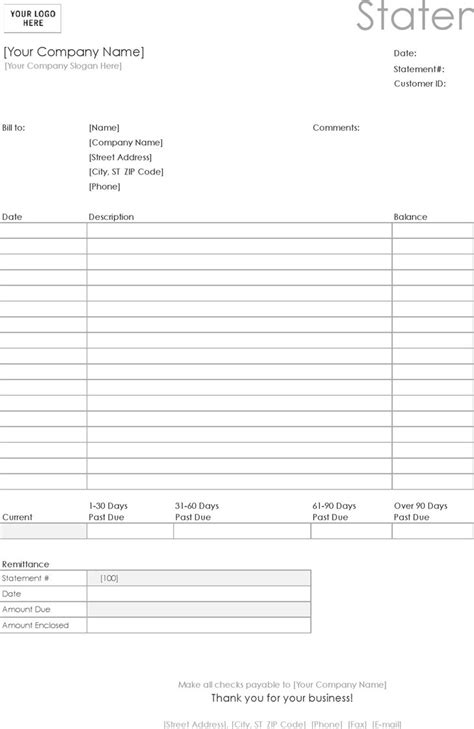 profit and loss statement template with blue table and