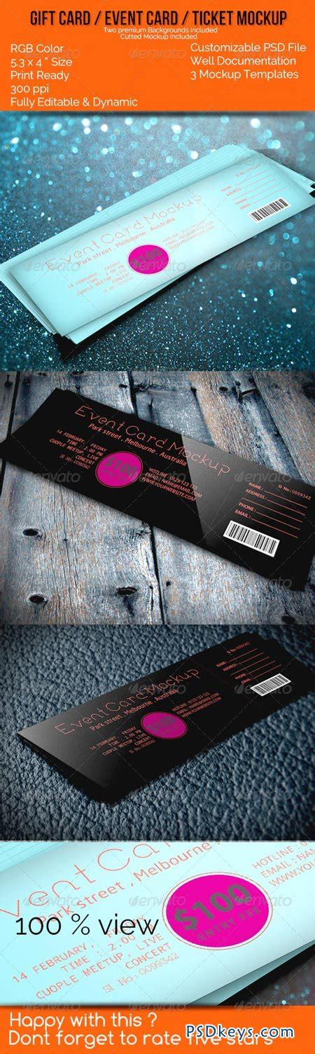 Events Gift Cards - realistic gift card event card ticket card mockups 6514369 187 free download photoshop