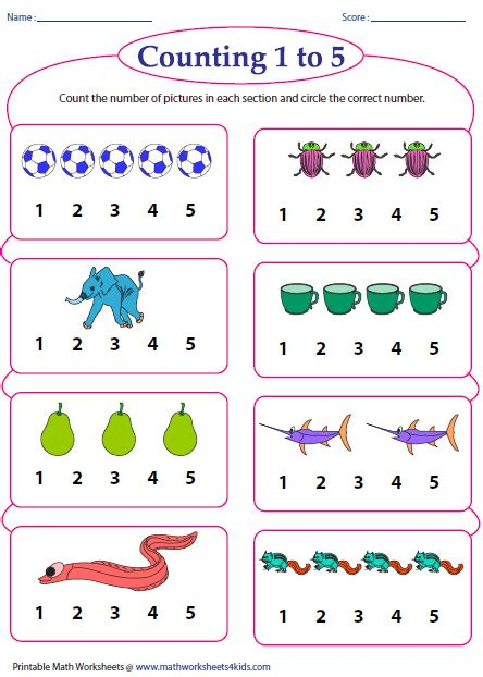 counting objects worksheets counting worksheets