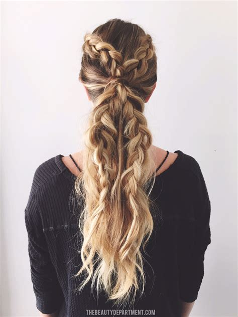 two dutch braids hairstyles tag archive for quot dutch braid quot the beauty department