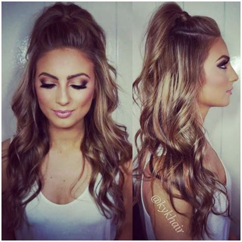 Curled Half Up Half Hairstyles by Haircuts For Hair Prom Hairstyles Hair