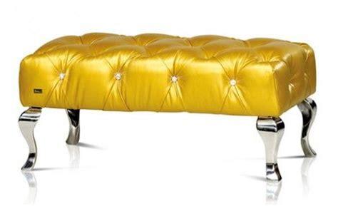 yellow ottoman bench gold metallic tufted bench ottoman canary yellow