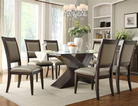 dining room sets with glass table tops 20 ideas of glass dining tables sets dining room ideas