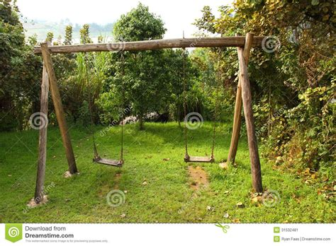 Swing In The by Pictures Of Wooden Swing Set Rustic Wooden Swing Set