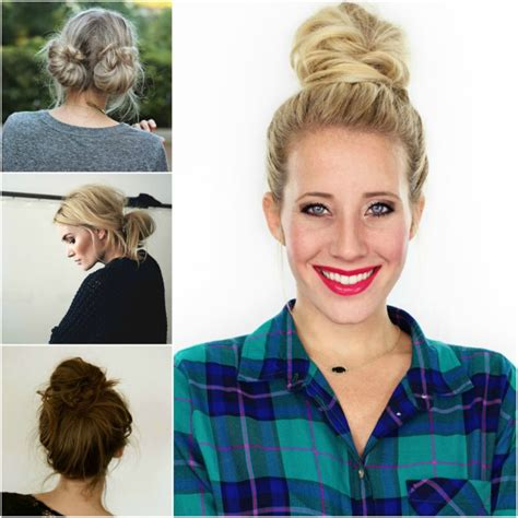 2 minute bubble bun hairstyle easy second day hair 15 easy bun hairstyles to rock this summer