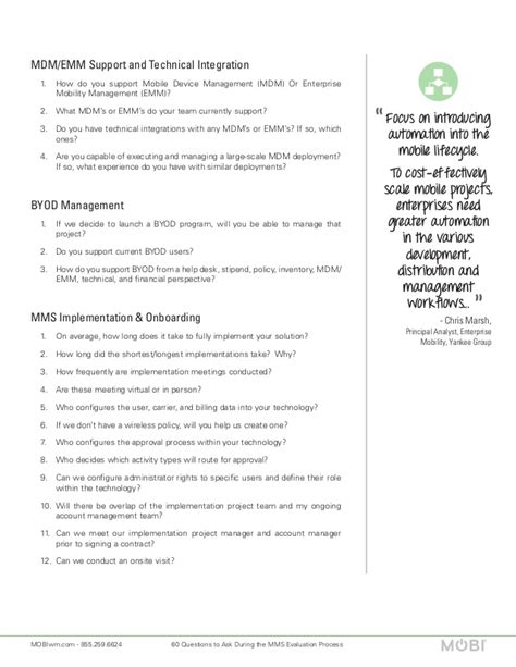 60 questions to ask during the mms evaluation process
