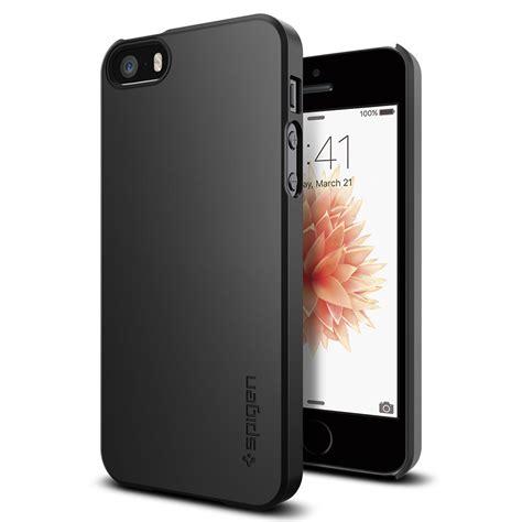 Original Spigen Thin Fit Iphone X Black etui spigen thin fit iphone se 5s 5 black pancernik eu