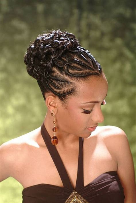 black hairstyles updos with braids updo black braids