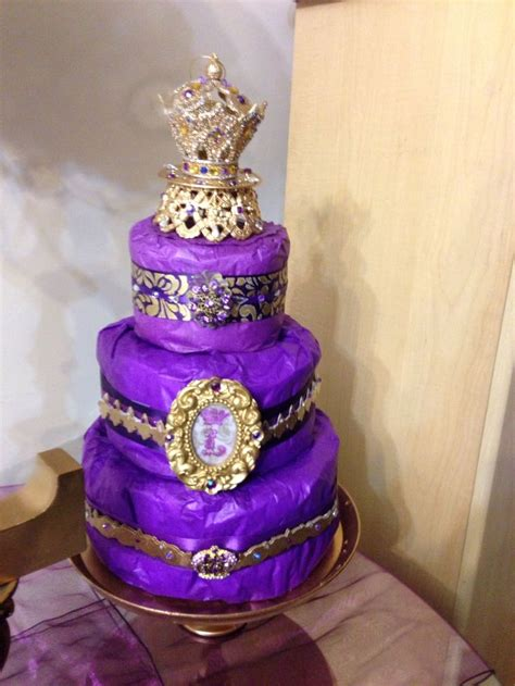Purple And Gold Baby Shower cake purple gold royal themed baby shower