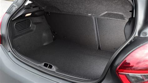 peugeot 208 trunk peugeot 208 hatchback practicality boot space carbuyer