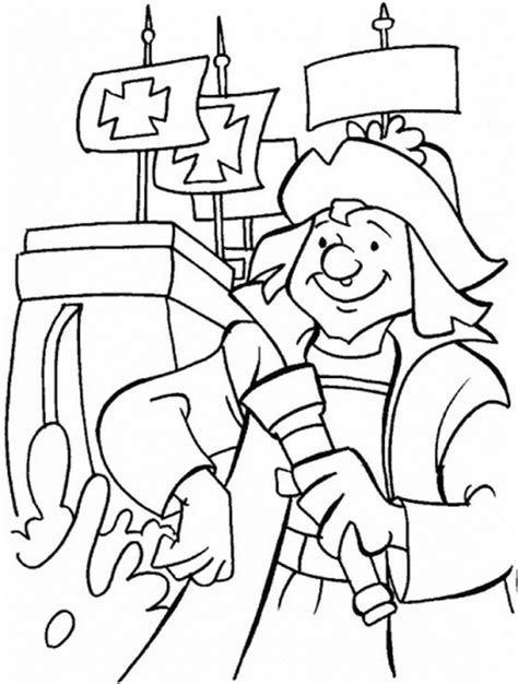 columbus day coloring pages family holiday net guide to