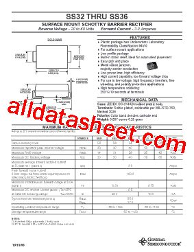 diode ss34 ss34 데이터시트 pdf general semiconductor