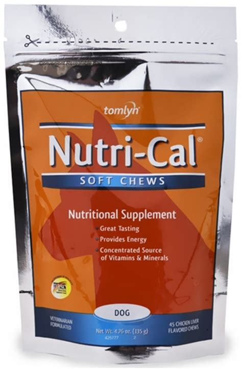 nutri cal for dogs nutri cal soft chews for dogs 45 count