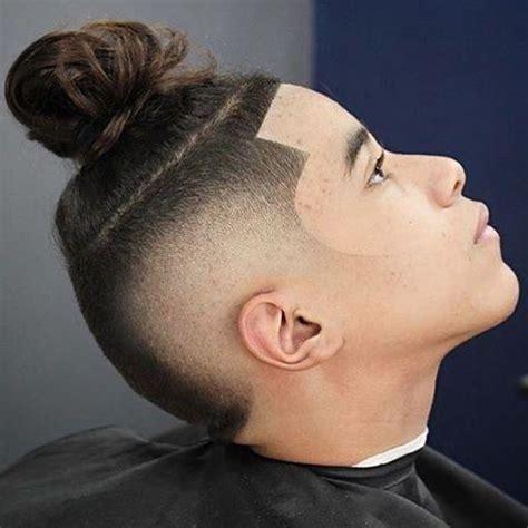 men fade hair top knot man bun 70 best man bun hairstyle and top knot cuts