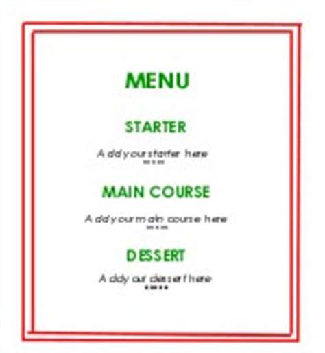 how to make a menu card summer 2000 challenge plan a menu