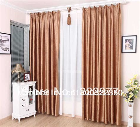 B008 Roman Rod With Drapery Grommets Installed On Corner Golden Colour » Home Design 2017