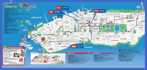 map new york city attractions new york map tourist attractions toursmaps