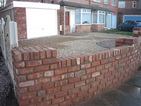 Reclaimed Brick Garden Walls Landscaping Services Portfolio Birmingham West